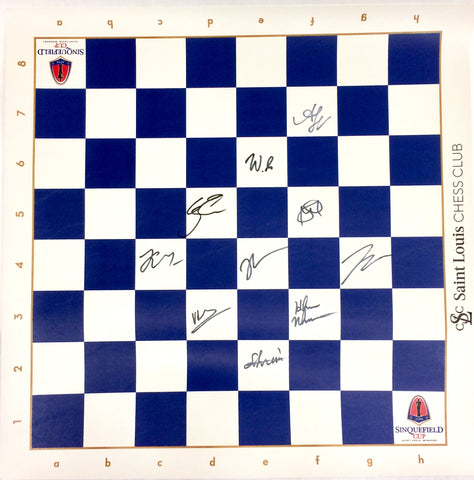 2018 Sinquefield Cup Roll Up Board [Autographed]
