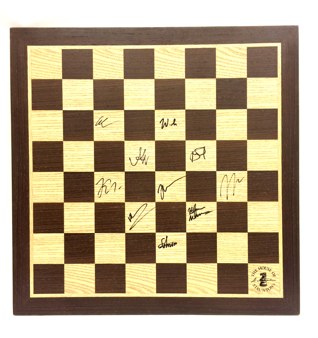 2018 Sinquefield Cup Wooden Board [Autographed]