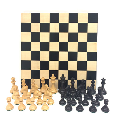 "3.5"" Black Exclusive Double Weighted Chess Set"