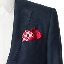 Load image into Gallery viewer, Falling Chessboard Pocket Squares