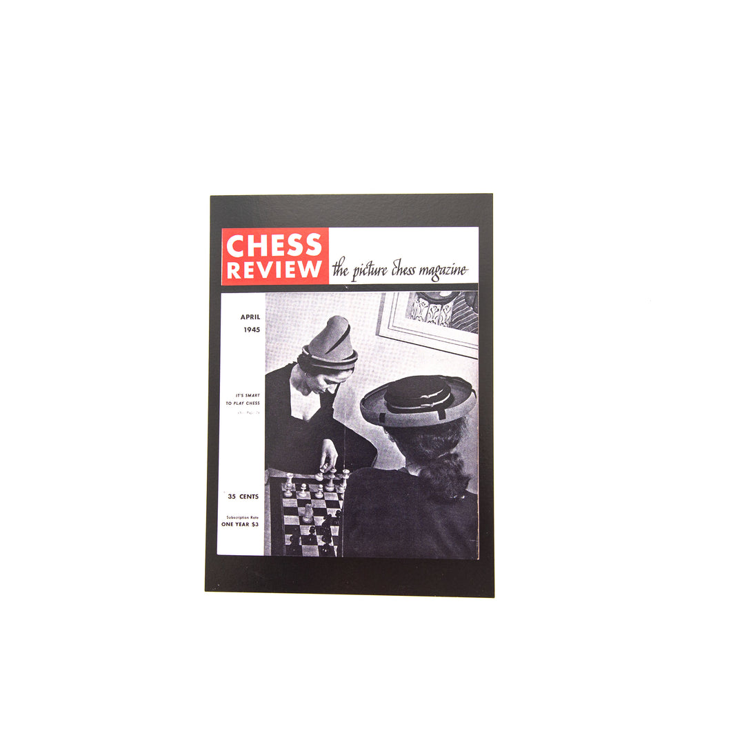 A Beautiful Game Postcards - Chess Review April 1945