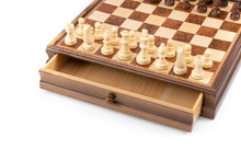"Load image into Gallery viewer, 3"" Wooden Chessmen with Inlaid Chest Drawer"