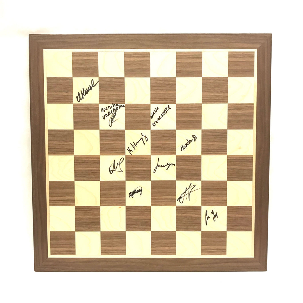 2020 Cairns Cup Autographed Wooden Board
