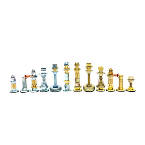 Royal Parts (Nuts & Bolts) Chess Pieces & Toolbox Case