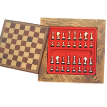 "Load image into Gallery viewer, 7"" Briarwood Chessboard with Magnetic Pieces"
