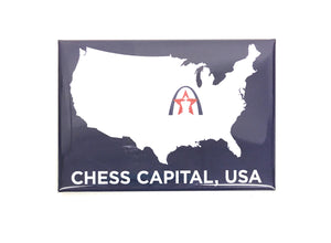 Chess Capital USA Magnet