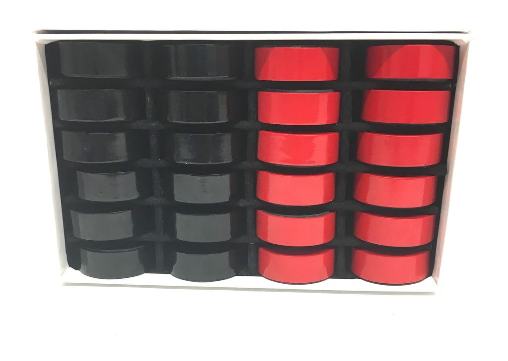 Black Vs. Red Bold Checkers (no board)