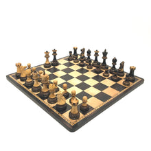 "Load image into Gallery viewer, 3.75"" Burnt Boxwood Parker Chess Set"