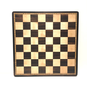 "3.75"" Burnt Boxwood Parker Chess Set"