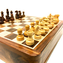 "Load image into Gallery viewer, 10"" Magnetic Folding Chess Set"