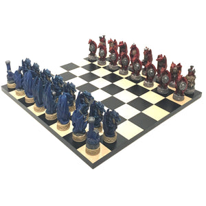 Justice Dragon Resin Chess Set