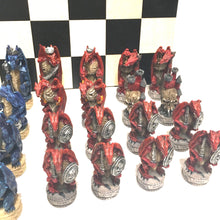 Load image into Gallery viewer, Justice Dragon Resin Chess Set