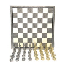"Load image into Gallery viewer, 4"" Staunton Metal Chess Set"