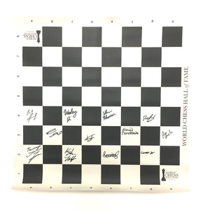 IMPERFECT 2015 US & Women's Chess Championship Roll Up Board [Autographed]