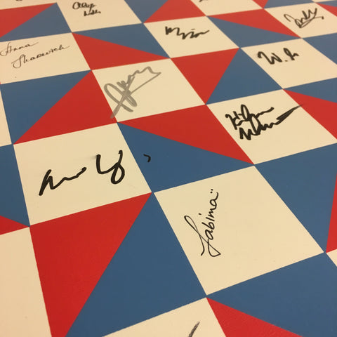 Autographed 2018 US Chess Championship Roll Up Boards