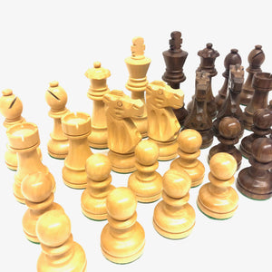 "3.75"" Sheesham/Boxwood French Chess Pieces"