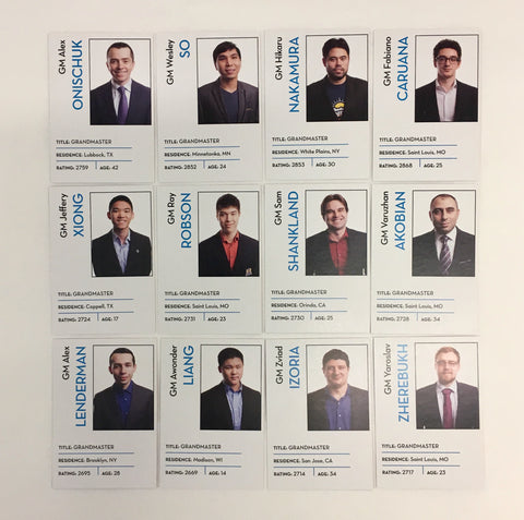 2018 US Chess Championship Trading Cards