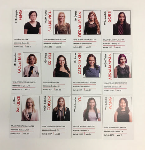 2018 US Women's Chess Championship Trading Cards