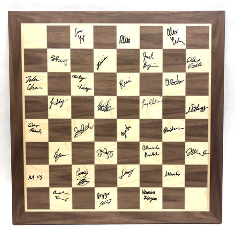 2019 Junior/Senior Championship Wooden Board [Autographed by ALL PLAYERS]