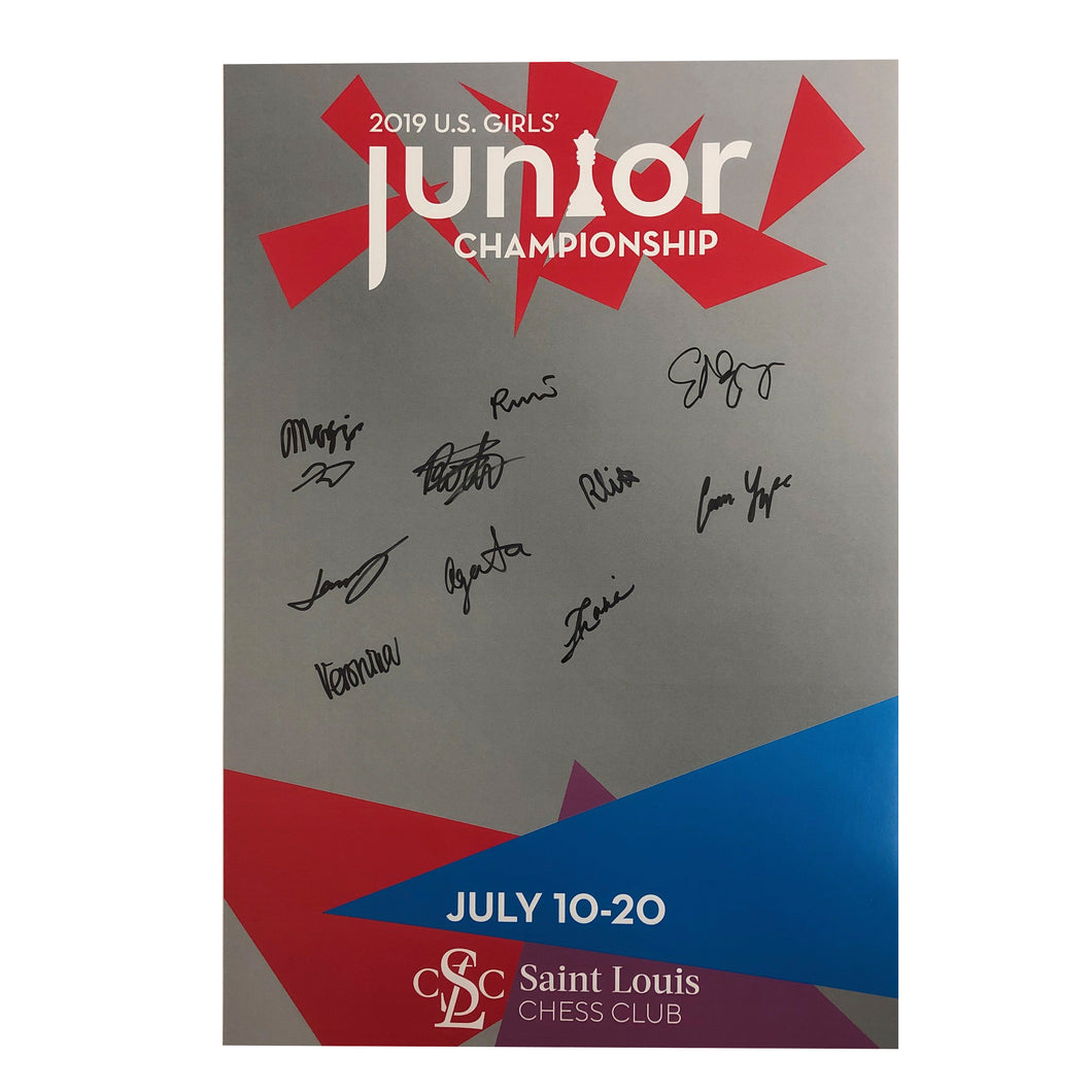 2019 U.S. Girl's Junior Championship Poster [Autographed]