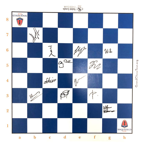 2019 Sinquefield Cup Vinyl Roll-up Board [Autographed]