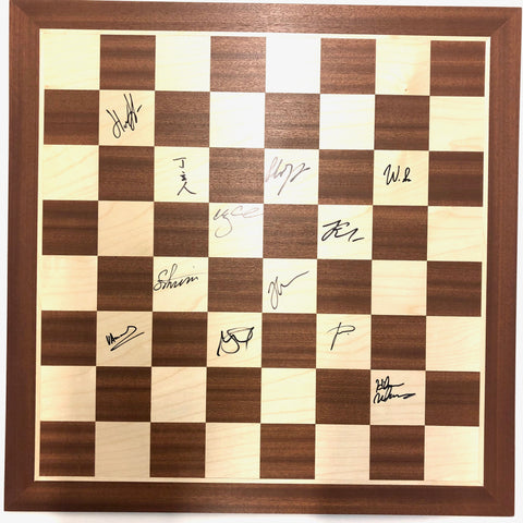 2019 Sinquefield Cup Wooden Board [Autographed]