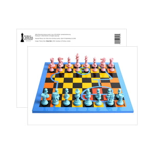 Purling Painted Pieces Postcards - Chess Noir