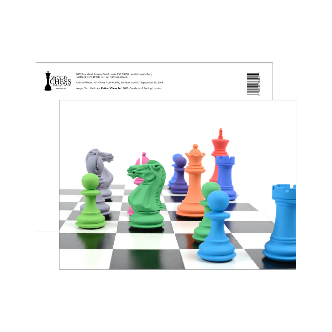 Purling Painted Pieces Postcards - Hackney Retinal Chess Set