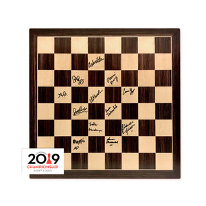 2019 US Women's Chess Championship Autographed Wooden Board
