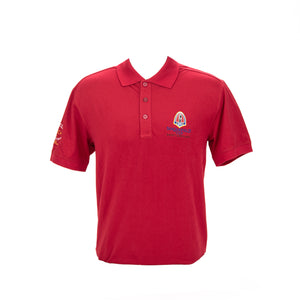 #2016 Sinquefield Cup Red Short-Sleeve Polo