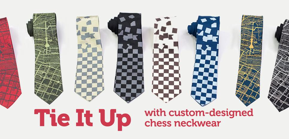 Chess Neck Ties and Bow Ties