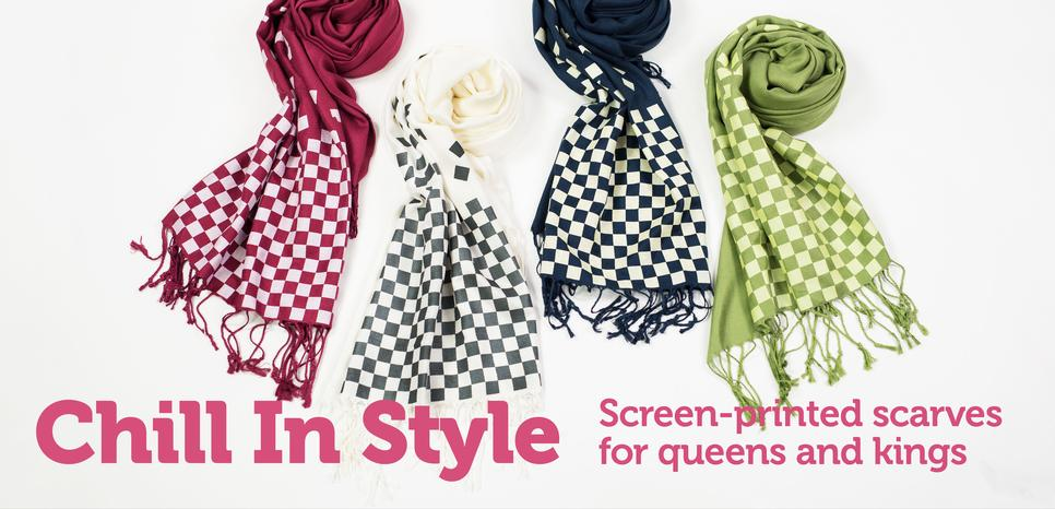 Chess Themed Scarves