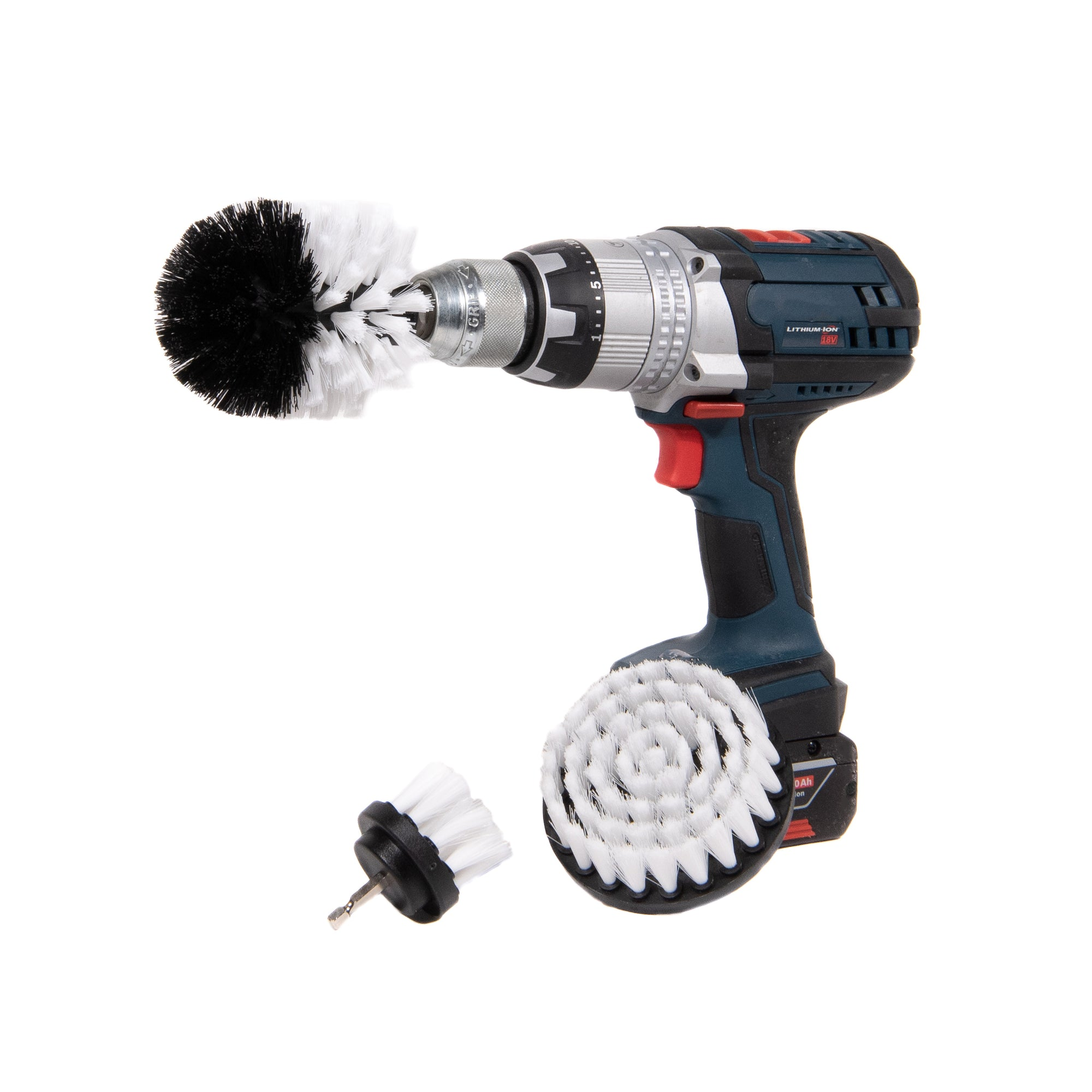 detail geek drill brush set soft white bristles