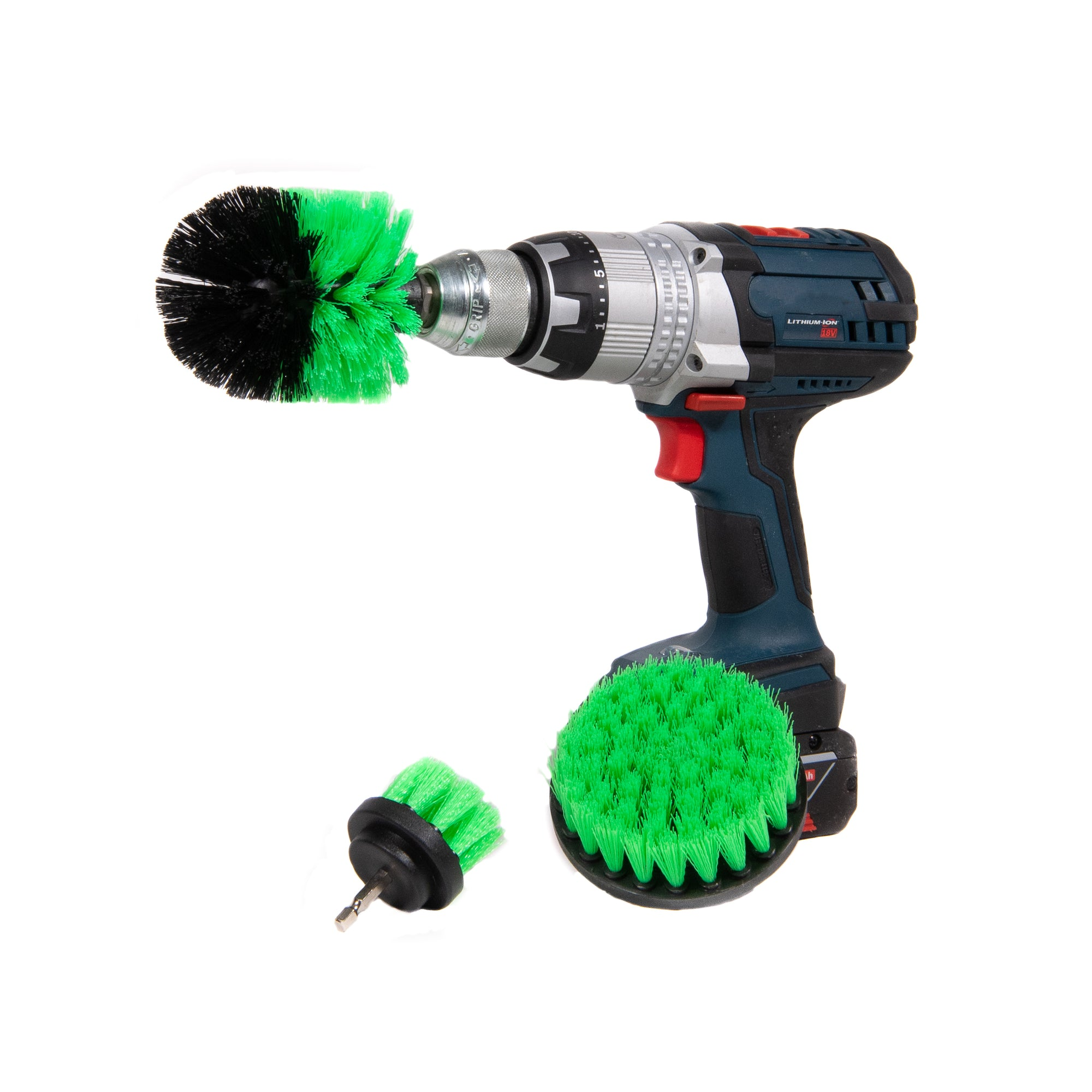 detail geek drill brush soft green and black bristles