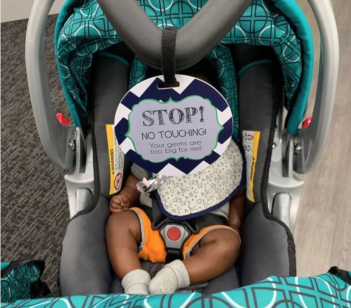 No Touching Stroller/Car Seat Tag