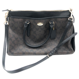 "Primary Photo - BRAND: COACH STYLE: HANDBAG DESIGNER COLOR: MONOGRAM SIZE: MEDIUM SKU: 262-262101-2337SLIGHT WEAR. APPROX. 14.5""L X 10""H X 6""D"