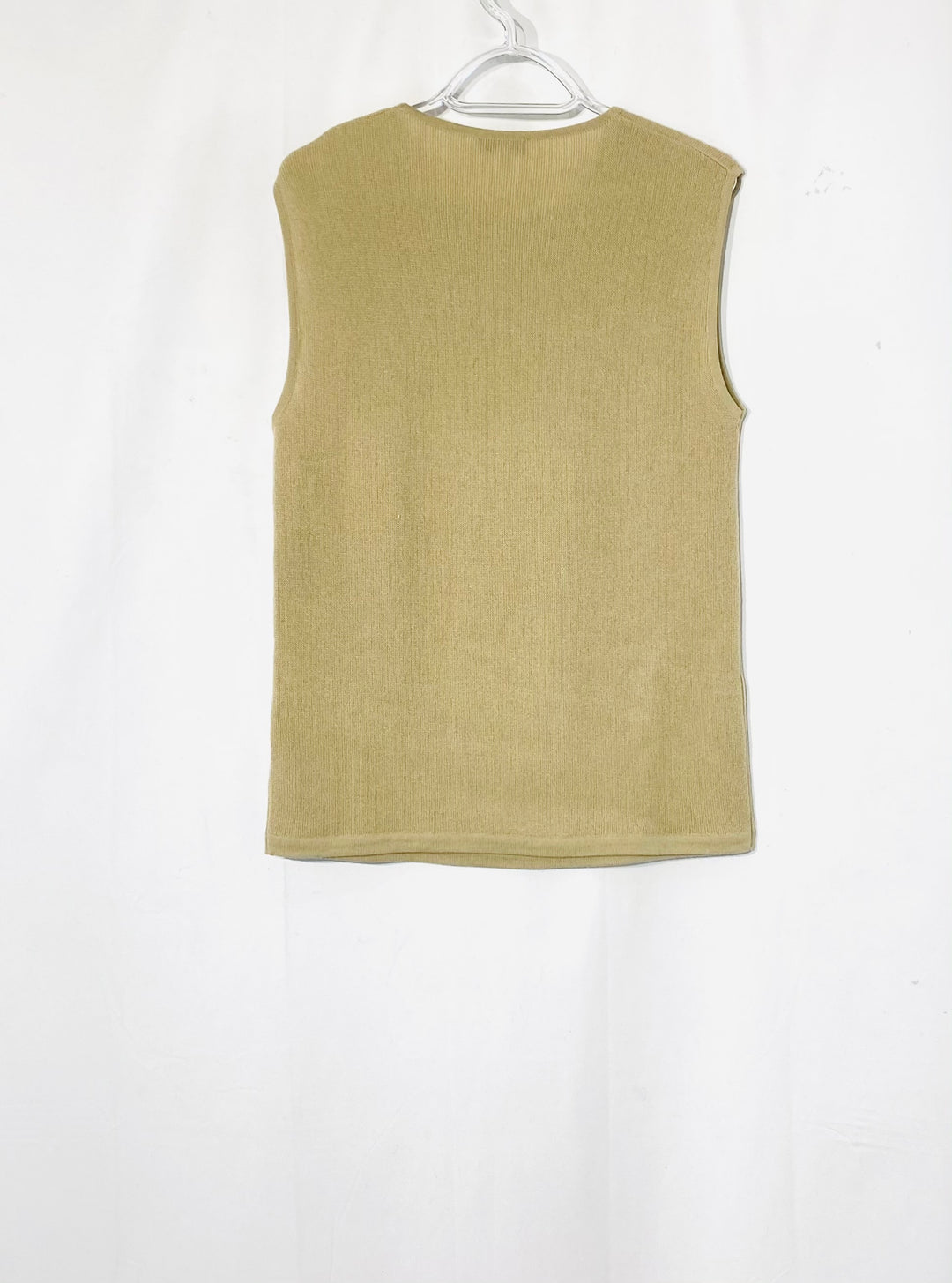 Photo #1 - BRAND: GIORGIO ARMANI <BR>STYLE: TOP SLEEVELESS <BR>COLOR: BEIGE <BR>SIZE: L <BR>SKU: 262-26275-72262<BR>100% WOOL<BR>DESIGNER FINAL