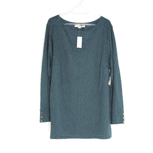 Primary Photo - BRAND: ANN TAYLOR LOFT PLUSSTYLE: TOP LONG SLEEVE COLOR: BLUE GREEN SIZE: 2XSKU: 262-26285-2536