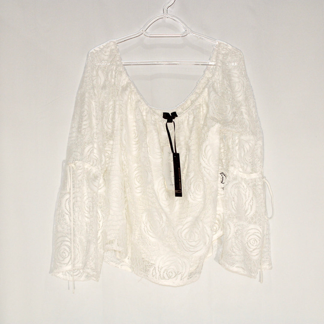 Primary Photo - BRAND: JEANS BY BUFFALO <BR>STYLE: BLOUSE <BR>COLOR: WHITE <BR>SIZE: XL <BR>SKU: 262-26275-58954