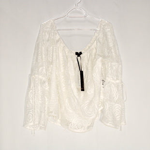 Primary Photo - BRAND: JEANS BY BUFFALO STYLE: BLOUSE COLOR: WHITE SIZE: XL SKU: 262-26275-58954