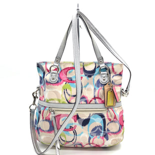 "Primary Photo - BRAND: COACH STYLE: HANDBAG DESIGNER COLOR: MULTI SIZE: SMALL 10""H X 12""L X 3.5""WDROP: 19"" SKU: 262-26275-76648GENTLE WEAR • AS IS"