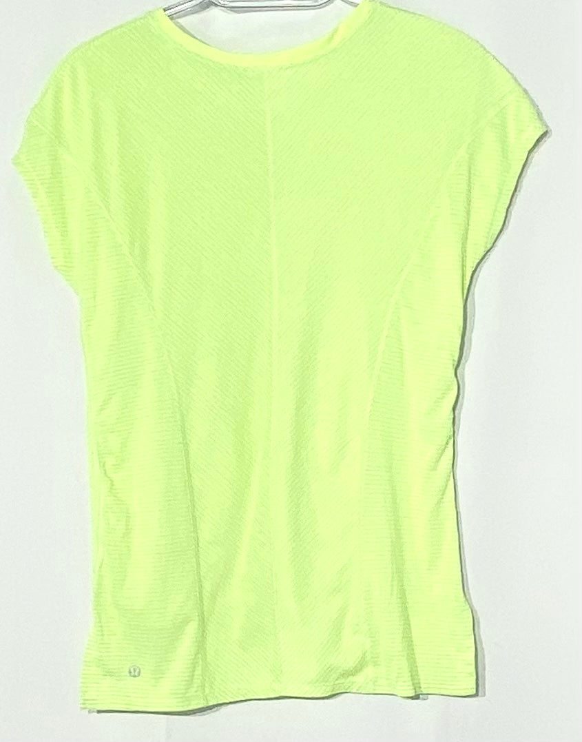 Photo #1 - BRAND: LULULEMON <BR>STYLE: ATHLETIC TOP SHORT SLEEVE <BR>COLOR: NEON <BR>SIZE: 6 <BR>SKU: 262-26211-141474<BR>ACTUAL COLOR BRIGHTER THAN PHOTO<BR>DESIGNER FINAL