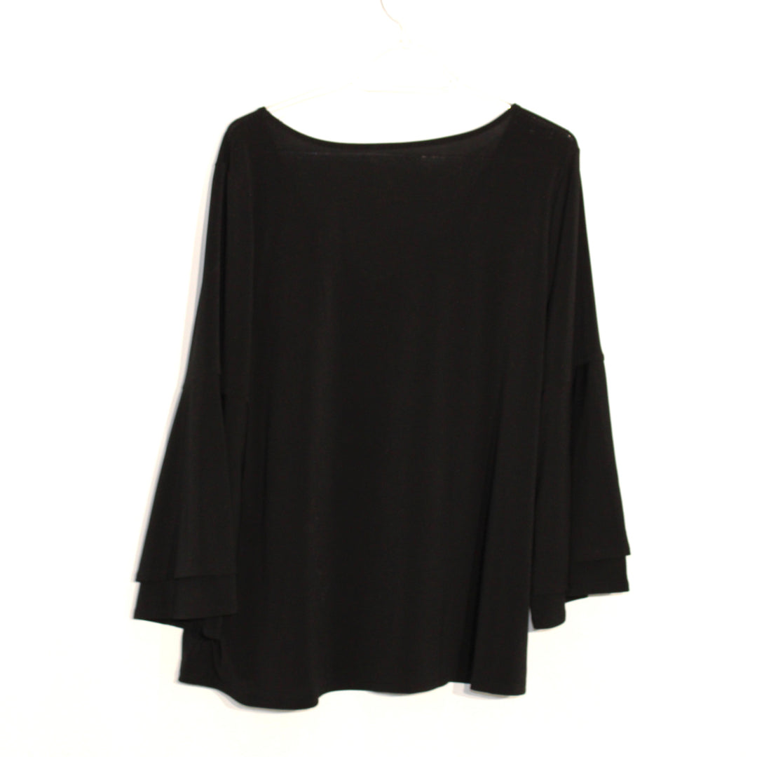Photo #1 - BRAND: LANE BRYANT <BR>STYLE: TOP LONG SLEEVE <BR>COLOR: BLACK <BR>SIZE: XL (14/16)<BR>SKU: 262-26275-60230