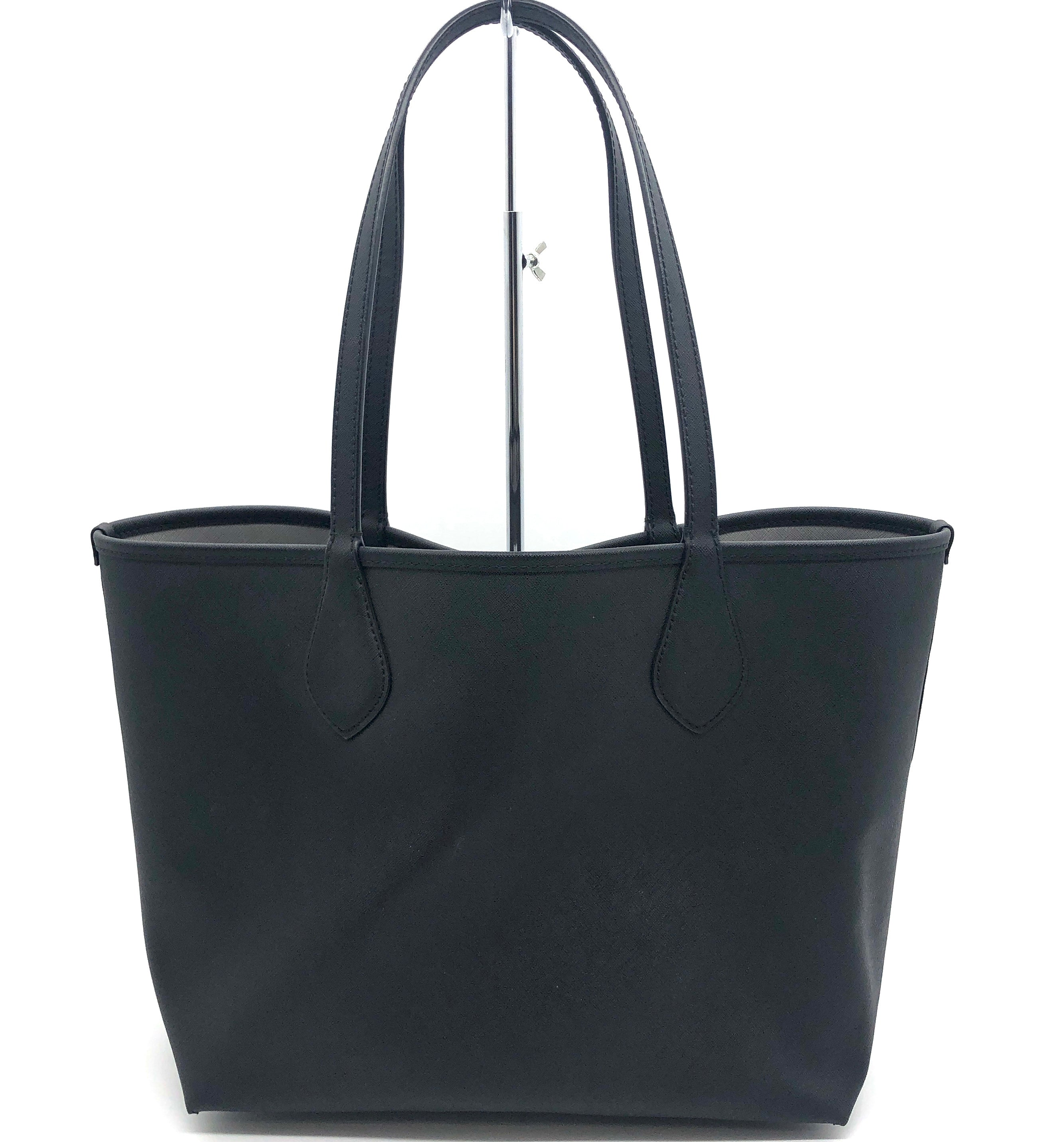 "Photo #1 - BRAND: MICHAEL KORS <BR>STYLE: HANDBAG REVERSIBLE <BR>COLOR: BLACK  GREY <BR>SIZE: MEDIUM <BR>SKU: 262-26275-75789<BR>AS IS WEAR ON CORNERS , SLIGHT MARKS, SPOTS ON GREY SIDE <BR>APPROX 10""X11""X6.5"""