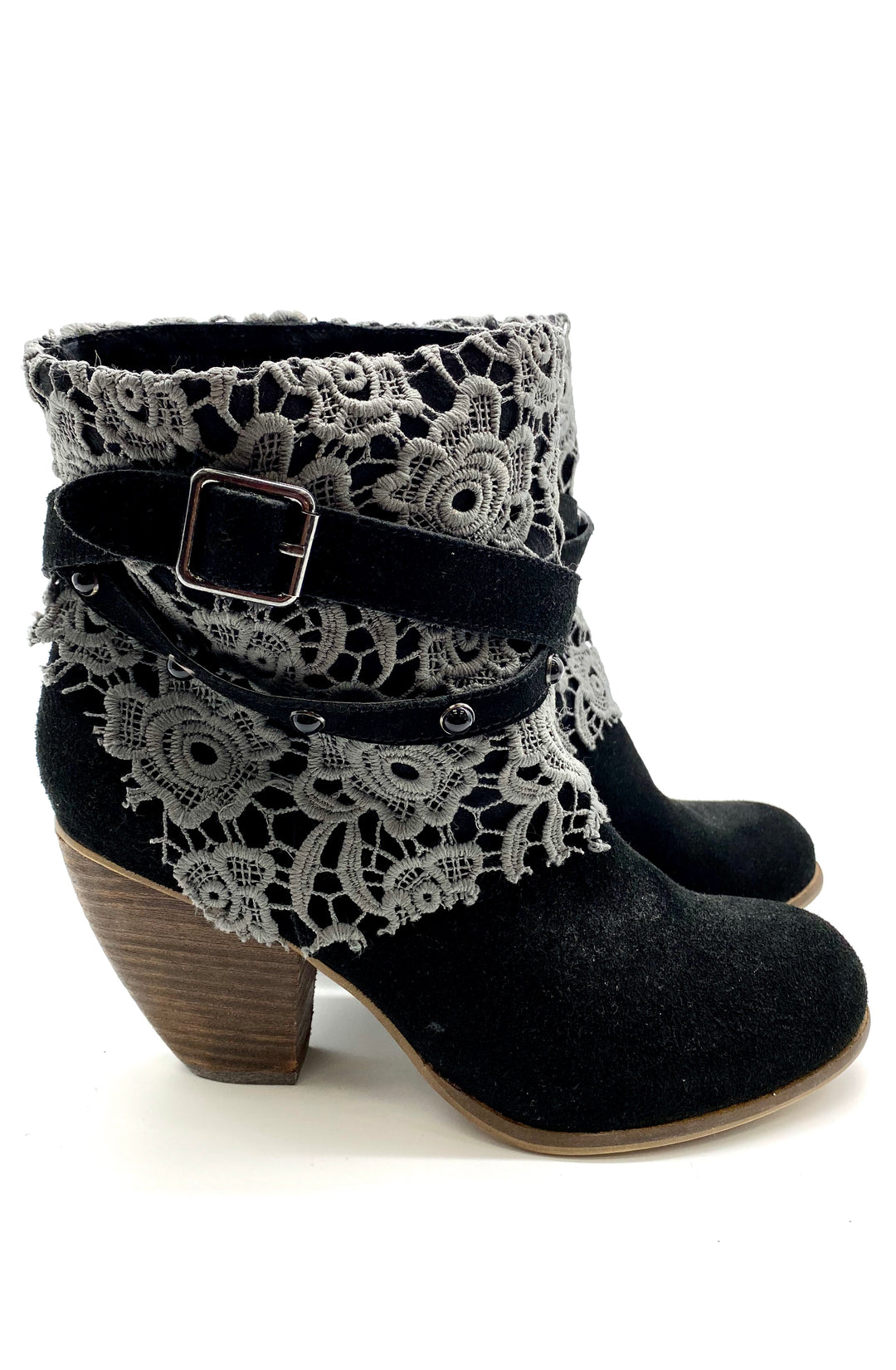 Photo #1 - BRAND: NAUGHTY MONKEY <BR>STYLE: BOOTS ANKLE <BR>COLOR: BLACK <BR>SIZE: 8 <BR>SKU: 262-26275-59177