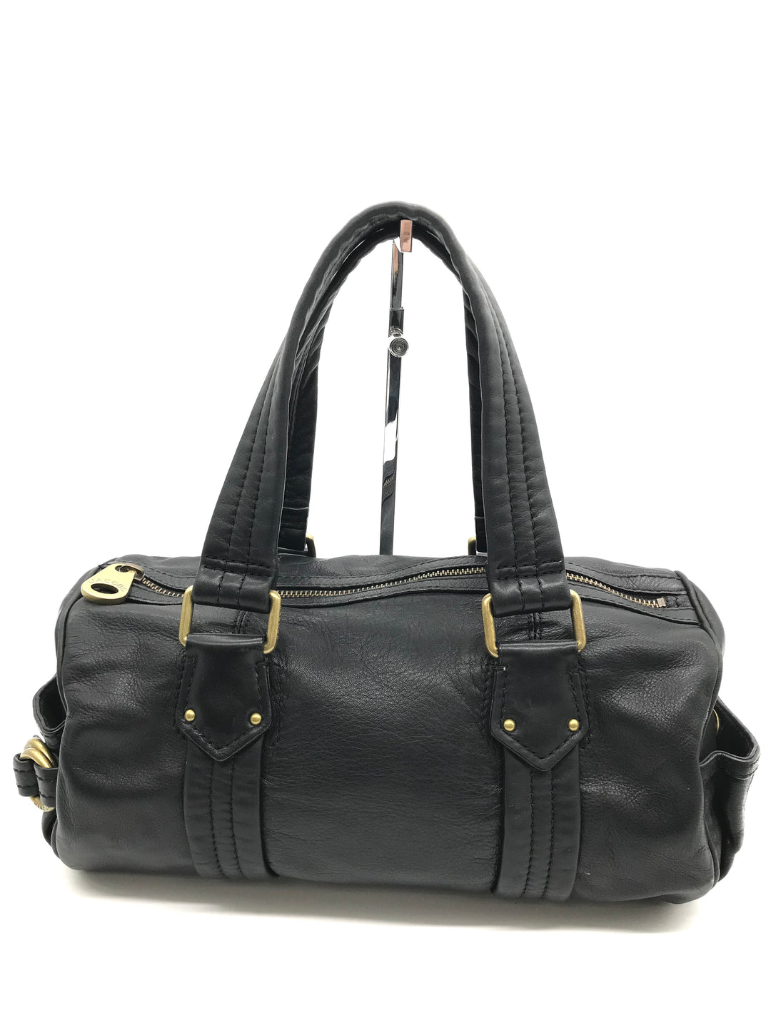 "Primary Photo - BRAND: MARC JACOBS <BR>STYLE: HANDBAG DESIGNER <BR>COLOR: BLACK <BR>SIZE: MEDIUM 7.5""H X 14""L X 7.5""W<BR>HANDLE DROP: 7.5""<BR>SKU: 262-26275-64508<BR>IN GREAT CONDITION • AS IS •"