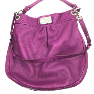 "Primary Photo - BRAND: MARC BY MARC JACOBS STYLE: HANDBAG DESIGNERCOLOR: PURPLE SIZE: MEDIUM SKU: 262-26211-137695PRICE REFLECTS SOME VISIBLE WEAR ESPECIALLY TO HANDLES. APPROX. 13.5""L X 13""H X 2.25""D."