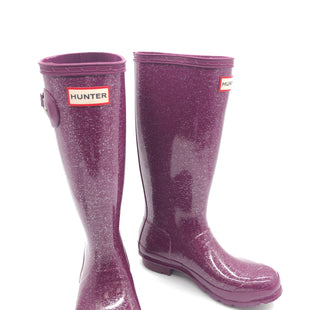 Primary Photo - BRAND: HUNTER STYLE: BOOTS RAIN COLOR: PURPLE SIZE: 6G | 5BSKU: 262-26275-73644• AS IS KIDS SIZE • SEE PHOTOS FOR REFERENCE •