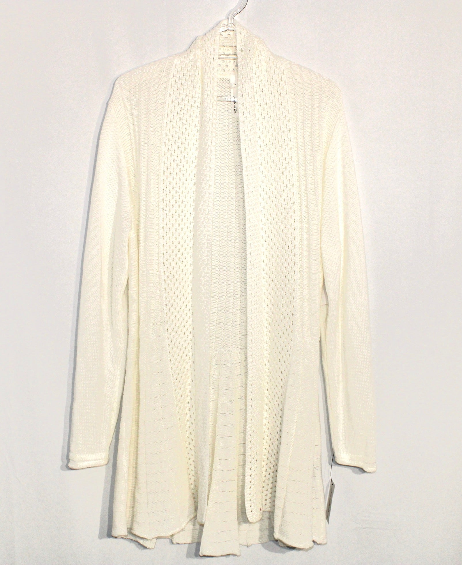 Primary Photo - BRAND: NY COLLECTION <BR>STYLE: SWEATER CARDIGAN LIGHTWEIGHT <BR>COLOR: WHITE <BR>SIZE: L <BR>SKU: 262-26275-61137