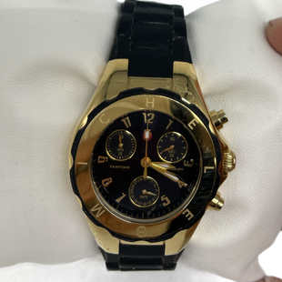 Primary Photo - BRAND: MICHELE STYLE: WATCH COLOR: BLACK SKU: 262-26211-146154MWW12D000012 TAHITIAN GOLD BLACK JELLY BEAN WATCH NEW BATTERY